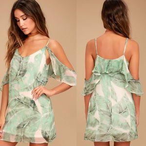 LuLu*s Radiate Positivity cold shoulder dress